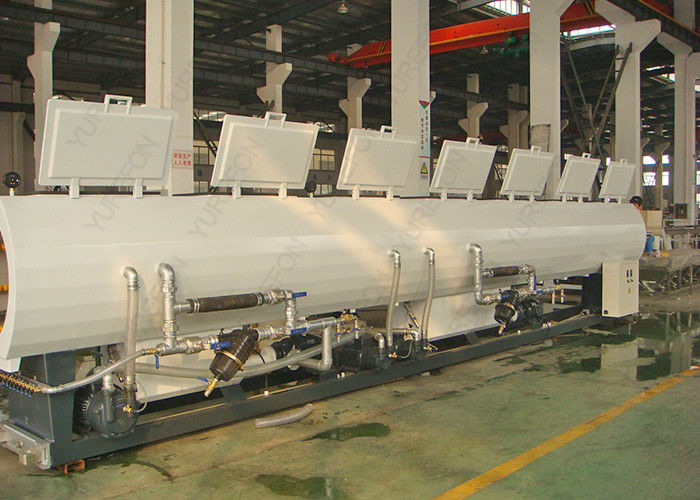 CE SGS PP PE PVC Making Machine Line , Plastic Pipe Vacuum Calibration Cooling Tank